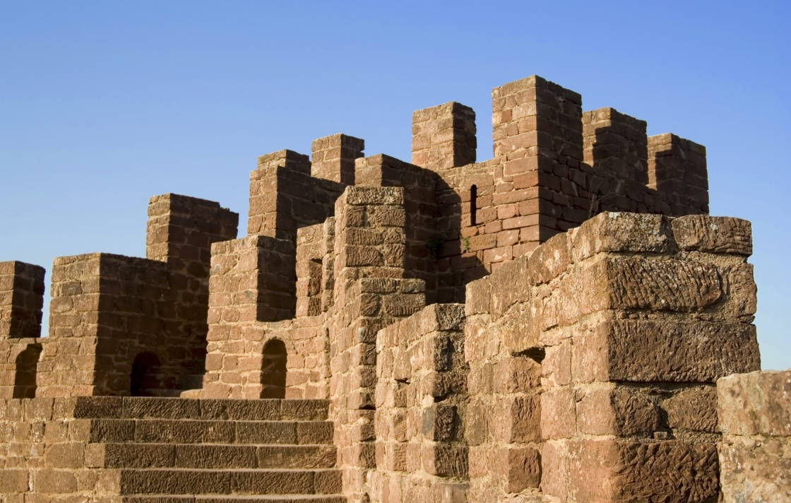 'Detail of moorish fortress at Silves, Portugal in the Algarve' - Algarve
