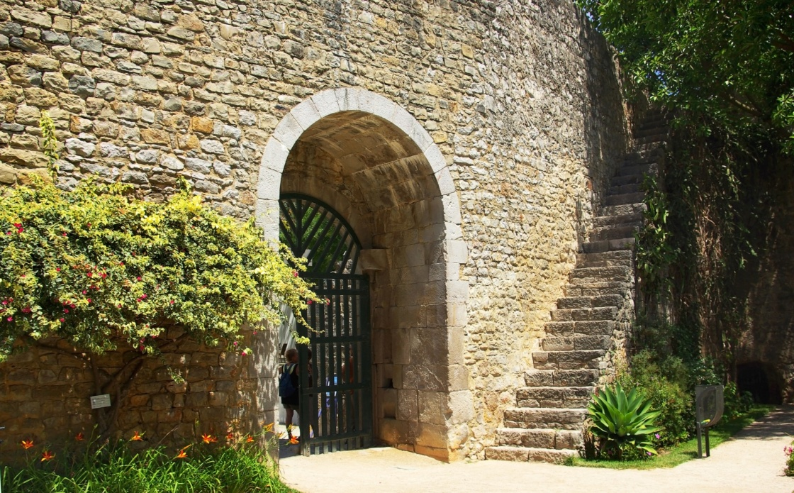 Door of portuguese castle.